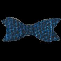 Blauw glitter strik haarspeldje handgemaakt 7 cm