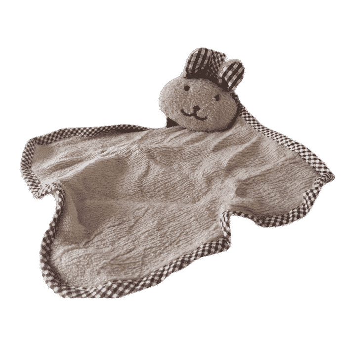 Knuffeldoek zacht konijn bruin