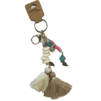 Witbeige sleutel hanger
