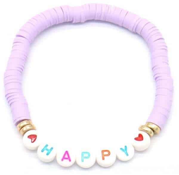 armband happy paars