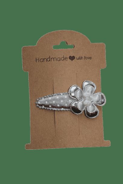 Zilver haarspeldje met bloem