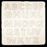 Houten alphabet inlegpuzzel