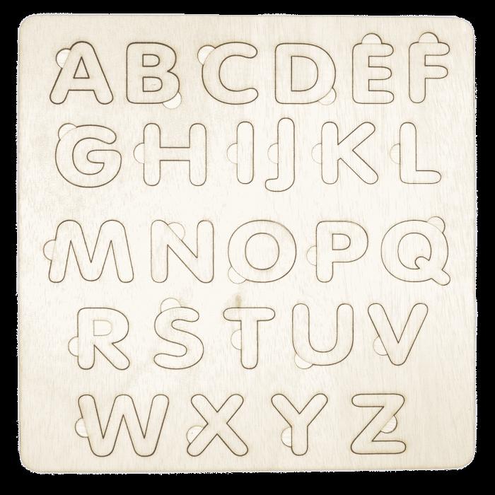 Houten alfabet inlegpuzzel