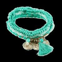 Bohemian Charm Wrap Armband Femme Groen