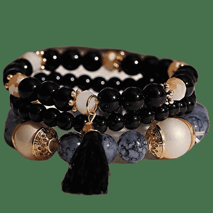 Boho Charm Power Slake armband zwart
