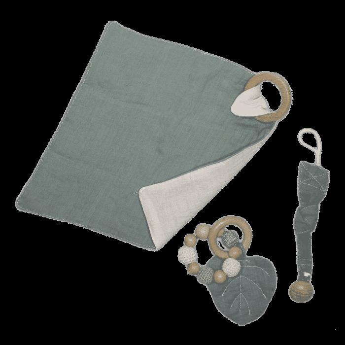 Combinatie troostpakket baby groen