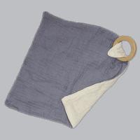 Knuffeldoek met bijtring grijs