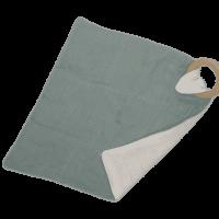 Knuffeldoek met bijtring groen