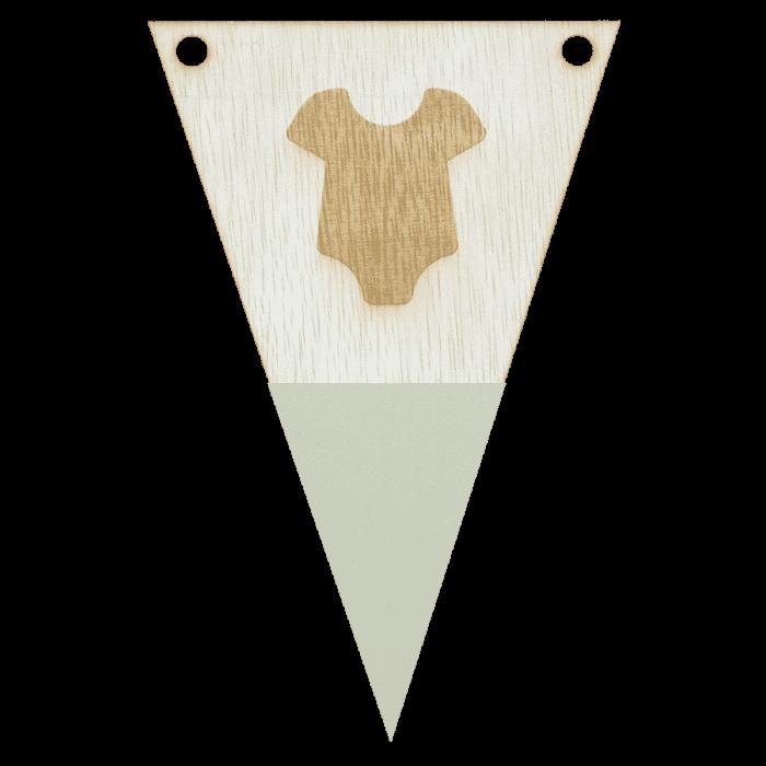 Rompervlag met punt in kleur gegraveerd