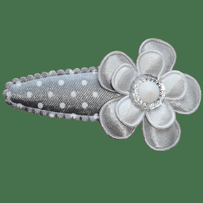 Spikkel haarspeldje met bloem handgemaakt 6 cm