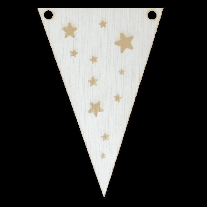 Sterretjesvlag met punt in kleur gegraveerd