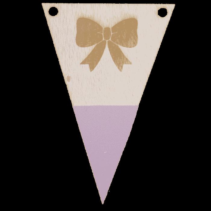 Strikvlag met punt in kleur gegraveerd