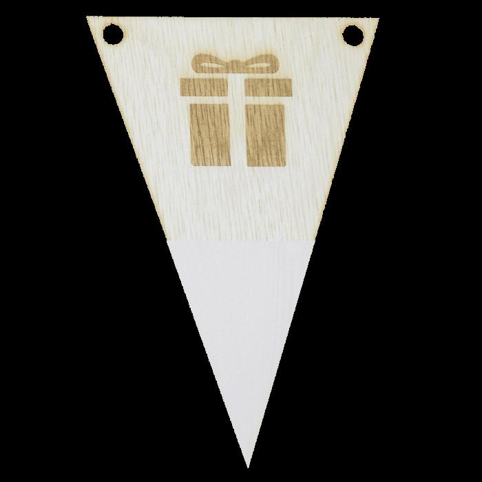 kadovlag met punt in kleur gegraveerd