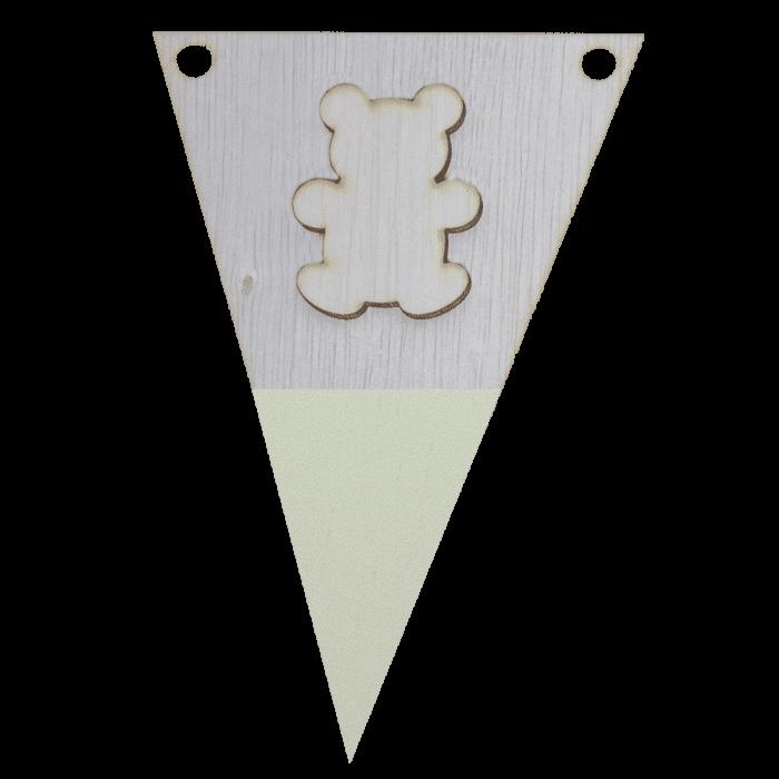 Beervlag met punt in kleur 3d
