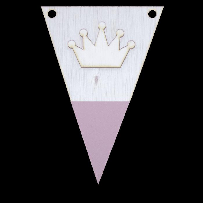 Kroonvlag met punt in kleur 3d