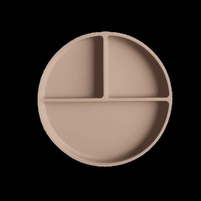 Mushie siliconen bord met zuignap Natural