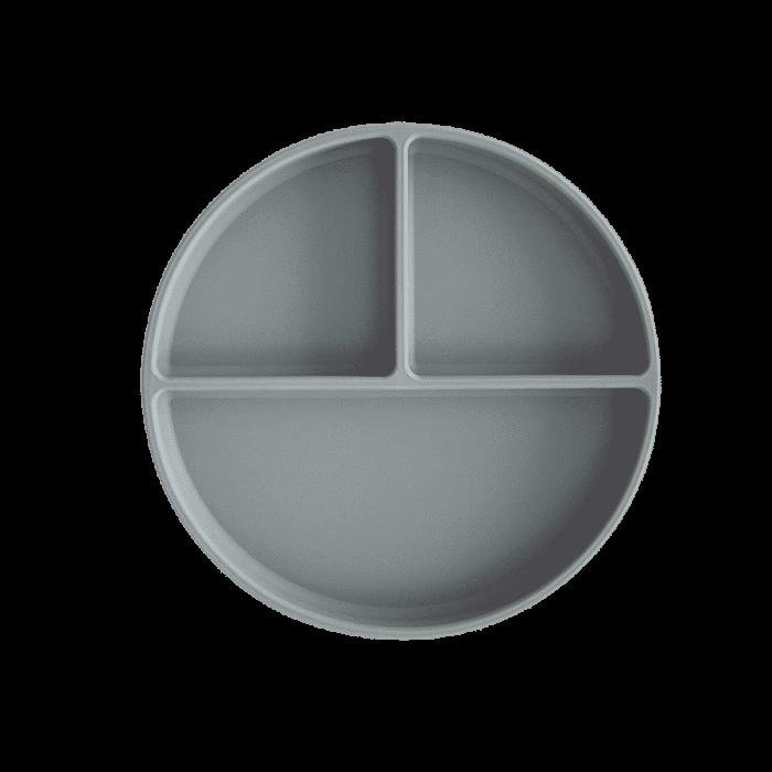 Mushie siliconen bord met zuignap Stone