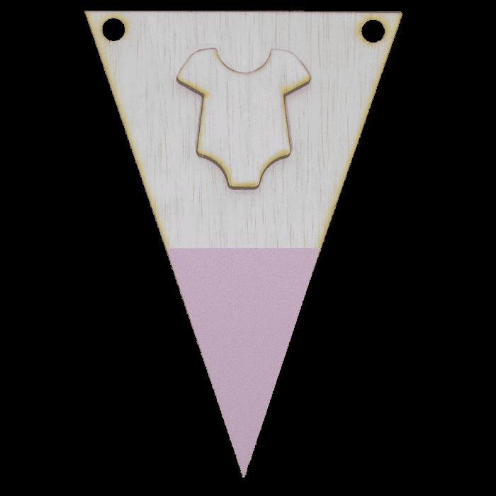 Rompervlag met punt in kleur 3d
