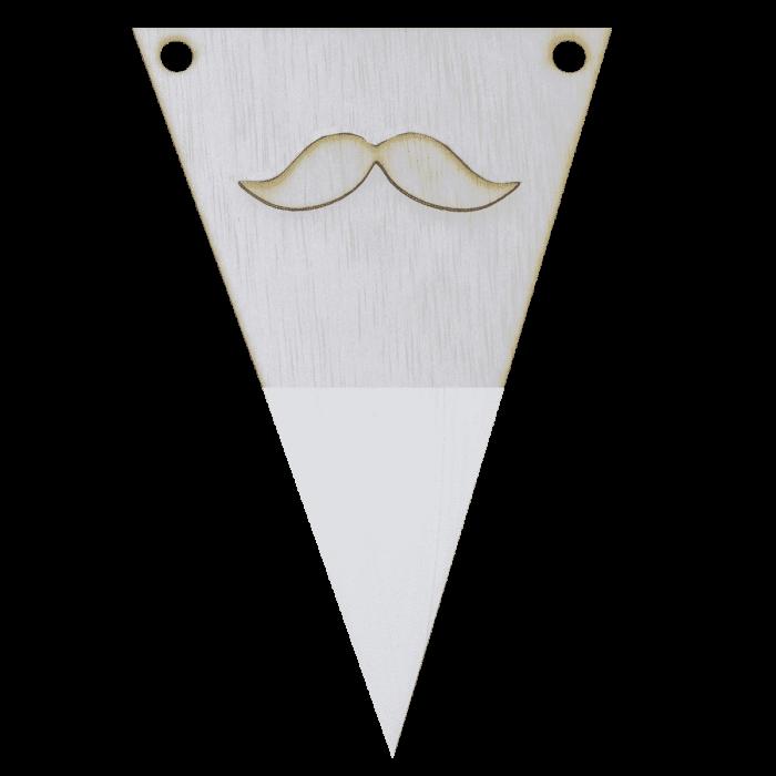 Snorvlag met punt in kleur 3d