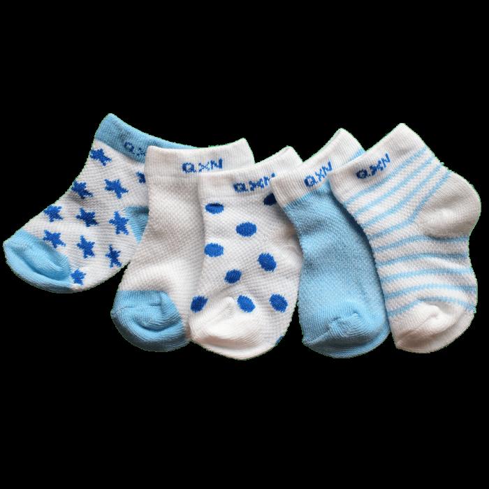 Blauw set baby sokjes 0 tot 1 jaar