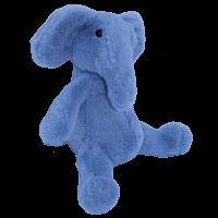 Knuffel baby olifant blauw 25 cm