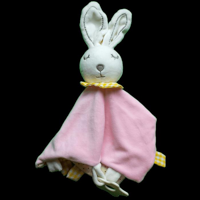 Knuffeldoek rammel konijn