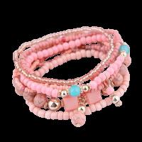 Bohemian armband licht roze