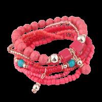 Bohemian armband rood roze