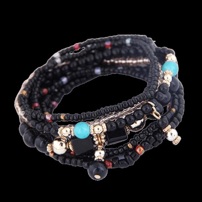 Bohemian armband zwart