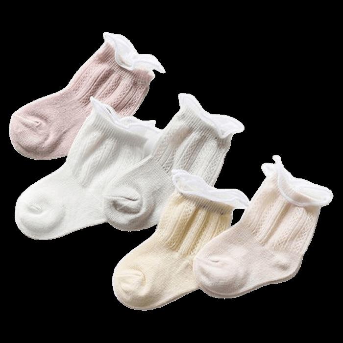 Ventilerende babysokjes 5-pack patroon