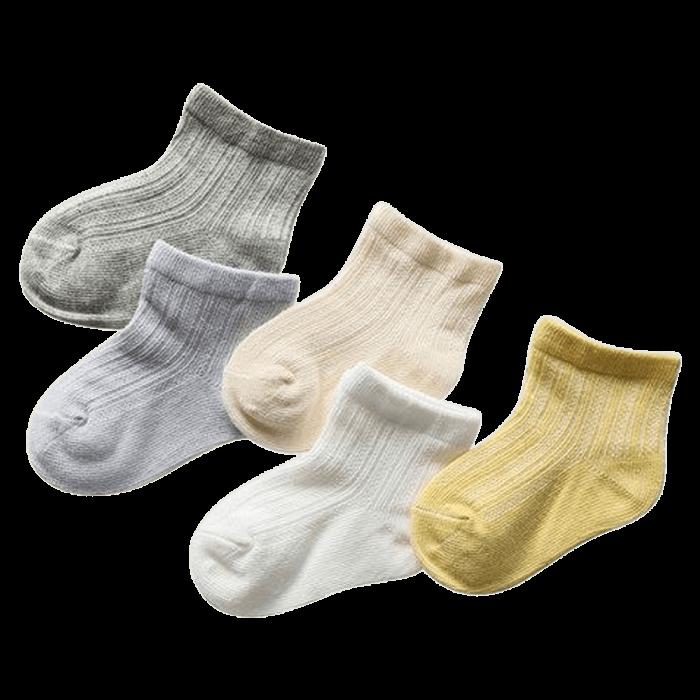 Ventilerende babysokjes 5-pack recht