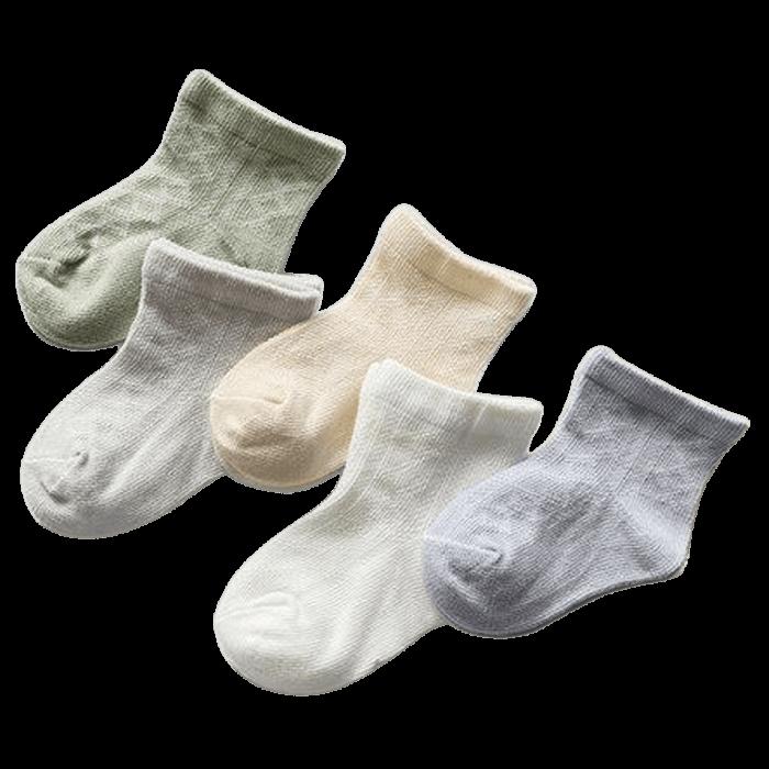 Ventilerende babysokjes 5-pack ruitjes