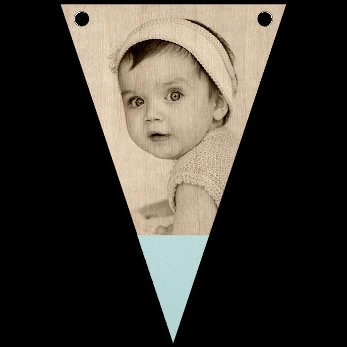 babyfoto met punt graveren
